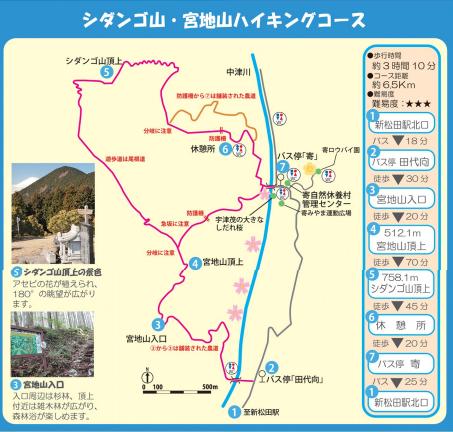 シダンゴ山宮地山ハイキングコース
